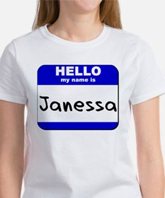 hello my name is janessa Women's T-Shirt
