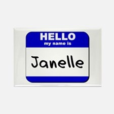 hello my name is janelle Rectangle Magnet