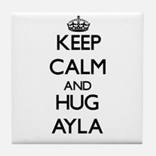 Keep Calm and HUG Ayla Tile Coaster