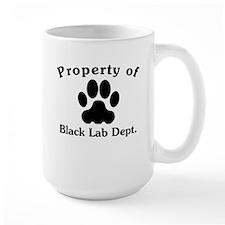 Property Of Black Lab Dept Mugs