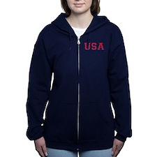 Usa Logo Women's Zip Hoodie