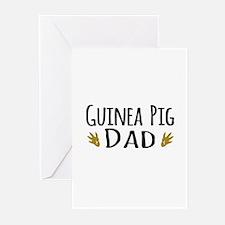 Guinea pig Dad Greeting Cards