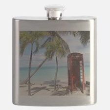 Red public Telephone Booth on Antigua Flask