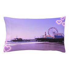 Purple Hearts Pier Pillow Case