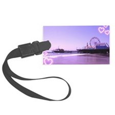Purple Hearts Pier Luggage Tag