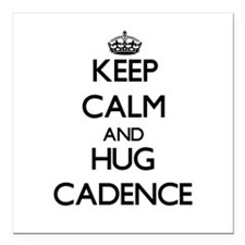 "Keep Calm and HUG Cadence Square Car Magnet 3"" x 3"