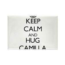 Keep Calm and HUG Camilla Magnets