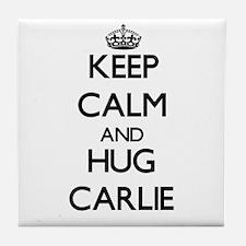 Keep Calm and HUG Carlie Tile Coaster