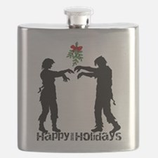 Happy Zombie Holiday Flask