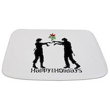 Happy Zombie Holiday Bathmat