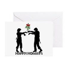 Happy Zombie Holiday Greeting Cards