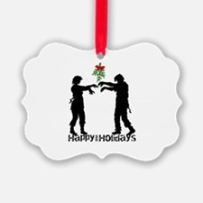Happy Zombie Holiday Ornament