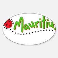 mauritius cochineal Oval Decal