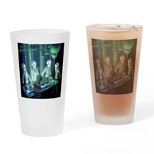 Greys aliens Drinking Glass