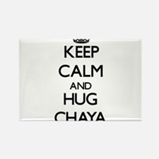 Keep Calm and HUG Chaya Magnets