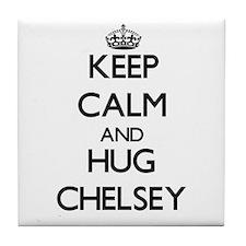 Keep Calm and HUG Chelsey Tile Coaster