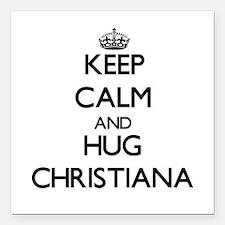 """Keep Calm and HUG Christiana Square Car Magnet 3"""""""