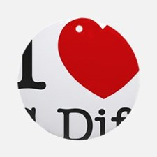 I Love C. Diff Ornament (Round)