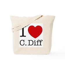 I Love C. Diff Tote Bag