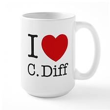 I Love C. Diff Mugs