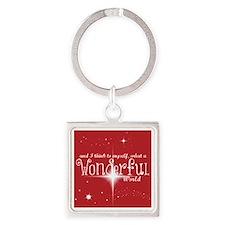 Wonderful World (red) Keychains