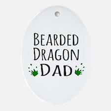 Bearded Dragon Dad Ornament (Oval)
