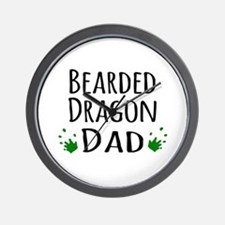Bearded Dragon Dad Wall Clock