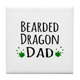 Bearded dragon dad Drink Coasters