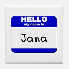 hello my name is jana  Tile Coaster