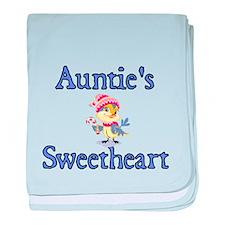 Aunties Sweetheart with cute Bird baby blanket
