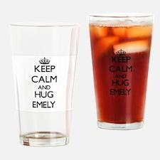 Keep Calm and HUG Emely Drinking Glass
