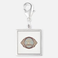 Vintage Tibetan OM Silver Square Charm