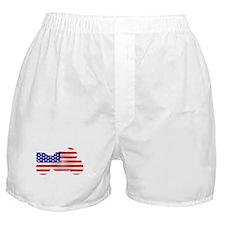 Red, White, & Blue Bike Boxer Shorts
