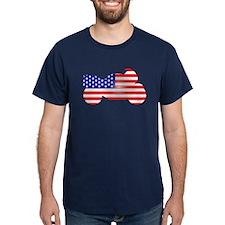 Red, White, & Blue Bike T-Shirt