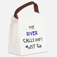 Unique River Canvas Lunch Bag