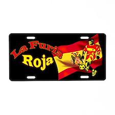Lafuria Roja Aluminum License Plate