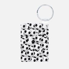 Soccer BAlls Aluminum Photo Keychain