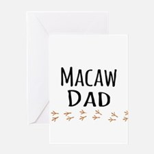 Macaw Dad Greeting Cards