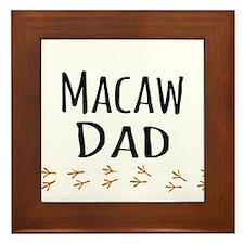 Macaw Dad Framed Tile