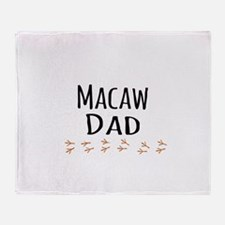 Macaw Dad Throw Blanket