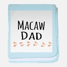Macaw Dad baby blanket