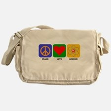 Peace Love Science Messenger Bag