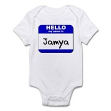hello my name is jamya  Infant Bodysuit