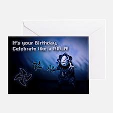 Ninja Guinea Pig Fun Birthday Greeting Card