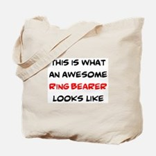 awesome ring bearer Tote Bag