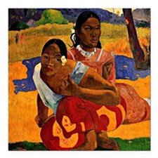 "Gauguin - When are you G Square Car Magnet 3"" x 3"""