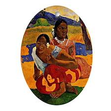 Gauguin - When are you Getting Marri Oval Ornament