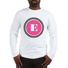 Pink E Monogram Long Sleeve T-Shirt