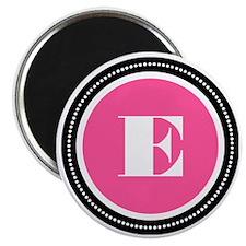 Pink E Monogram Magnet