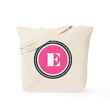 Pink E Monogram Tote Bag